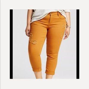 Dollhouse Skinny Ankle Distressed Jeans Sz 22